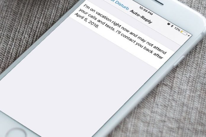 Auto Responder SMS desde el iPhone